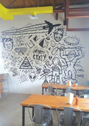 The mural by staffer Melissa Ford. Photo by Karli Vezina.