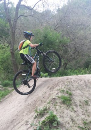 Eddie Gerson on the trail. Photo by Heather Gershon.