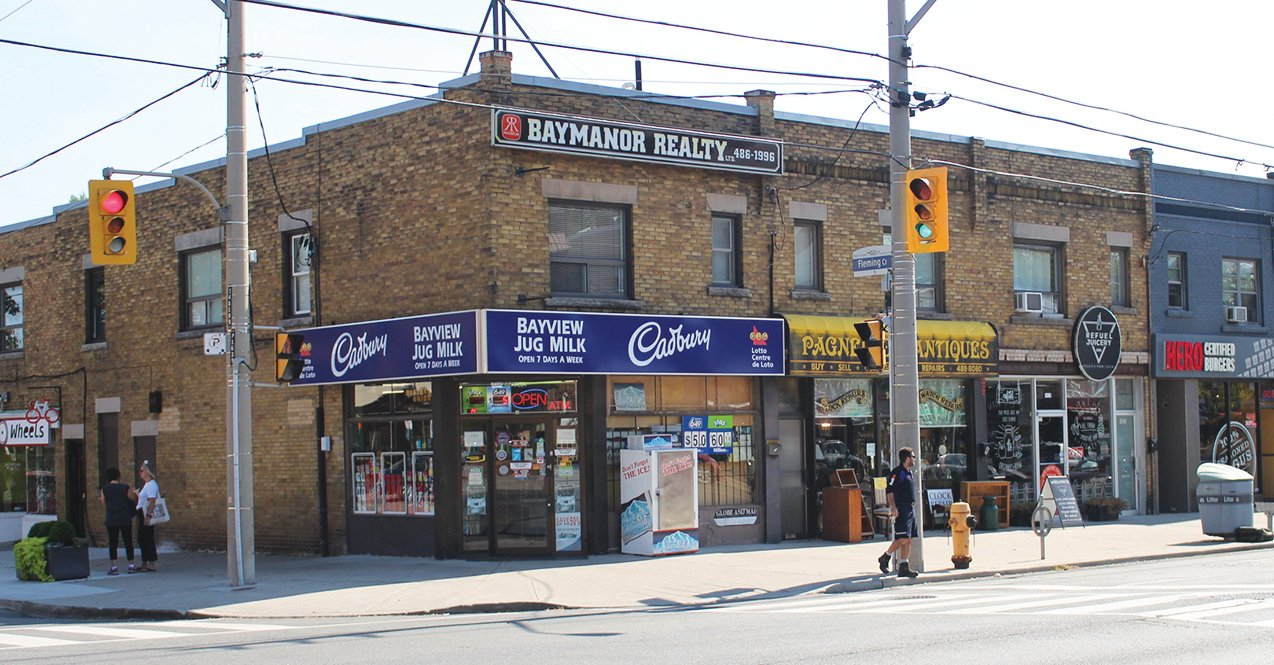 Example of Bayview/Leaside buildings in line for heritage listing.
