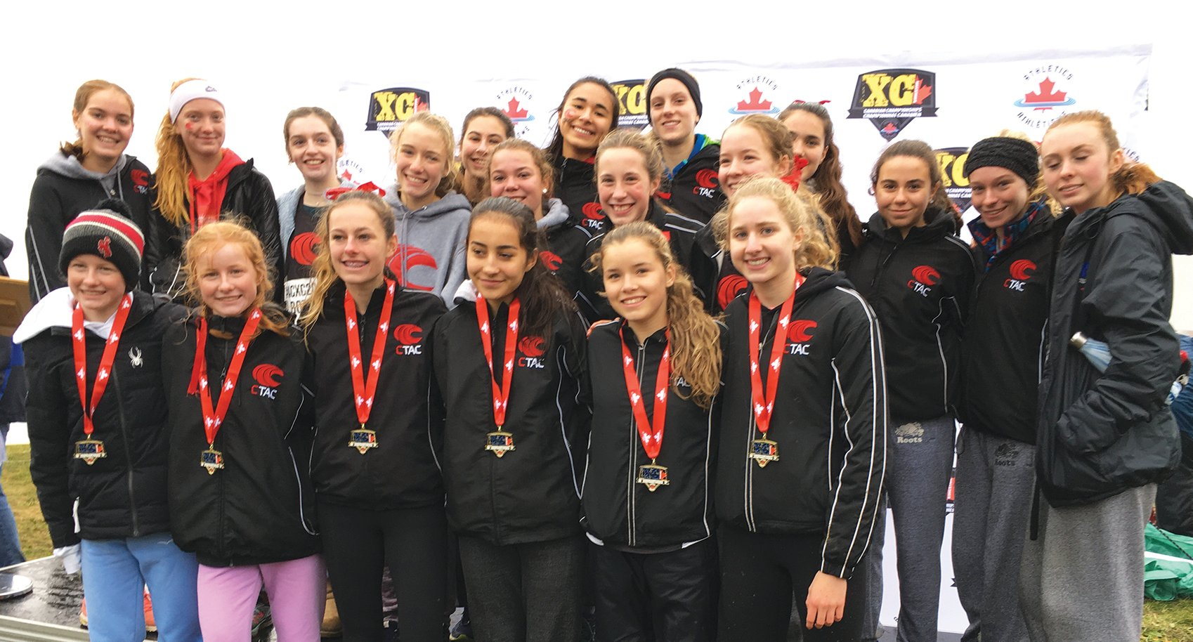Under 18 girls of Central Toronto Athletic Club. Photo By Dave Christiani.