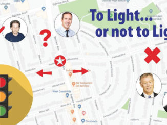 To light or not to Light. Map of Leaside intersection.