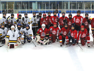 Bessborough and Northlea Intermediates face off in an exhibition game. Photos by Robin Dickie.