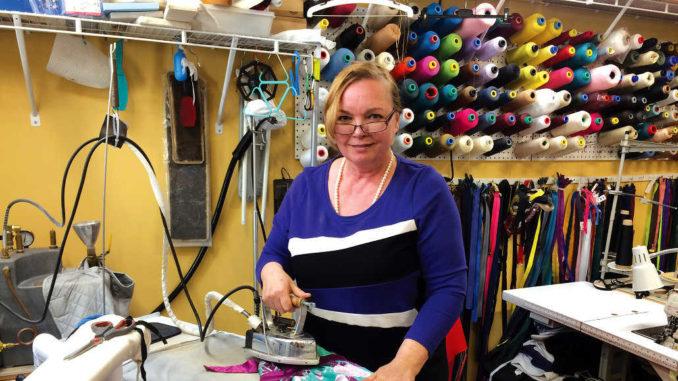 Irene at work. Photo By Janis Fertuck.