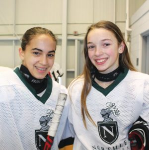 Kirti and Caleigh from Northlea. Photo by Robin Dickie.