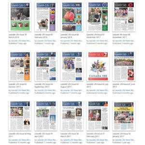 Past issues of Leaside Life can be found at Issuu.com