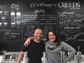 Jonah Creed and his wife Ashlynn at CREEDS.