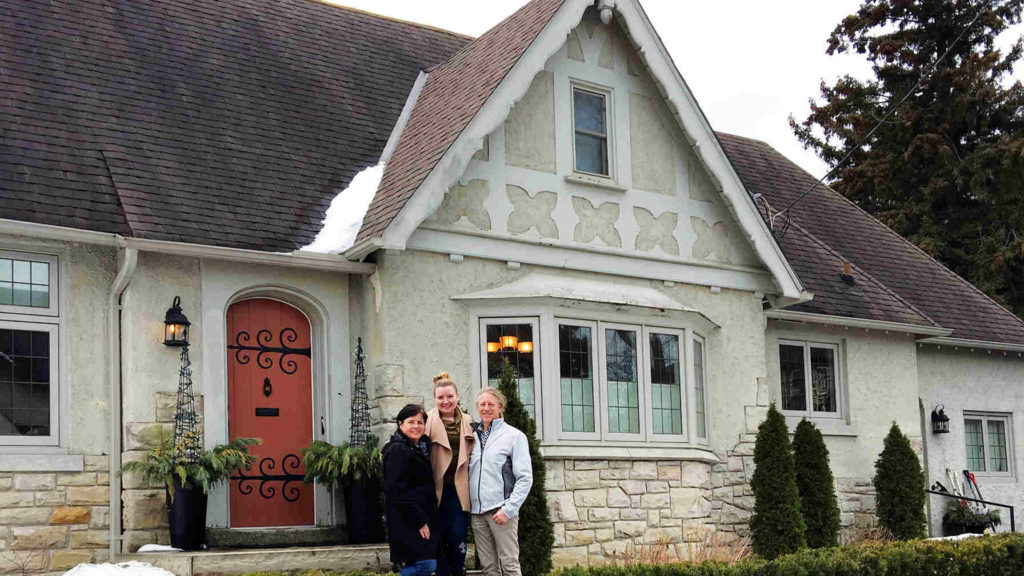 Kevin McGroarty, daughter Hannah and wife Julie on Bessborough Dr.