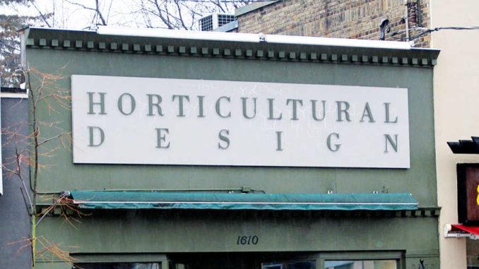 Horticultural Design storefront.