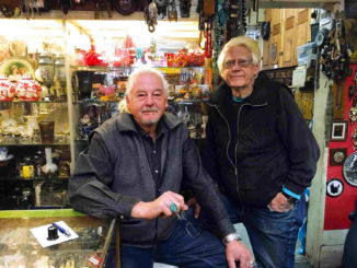 The Pagnellos, Frank and Michael, in their shop.