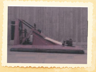 Photo of Terry Fallis' hovercraft project.