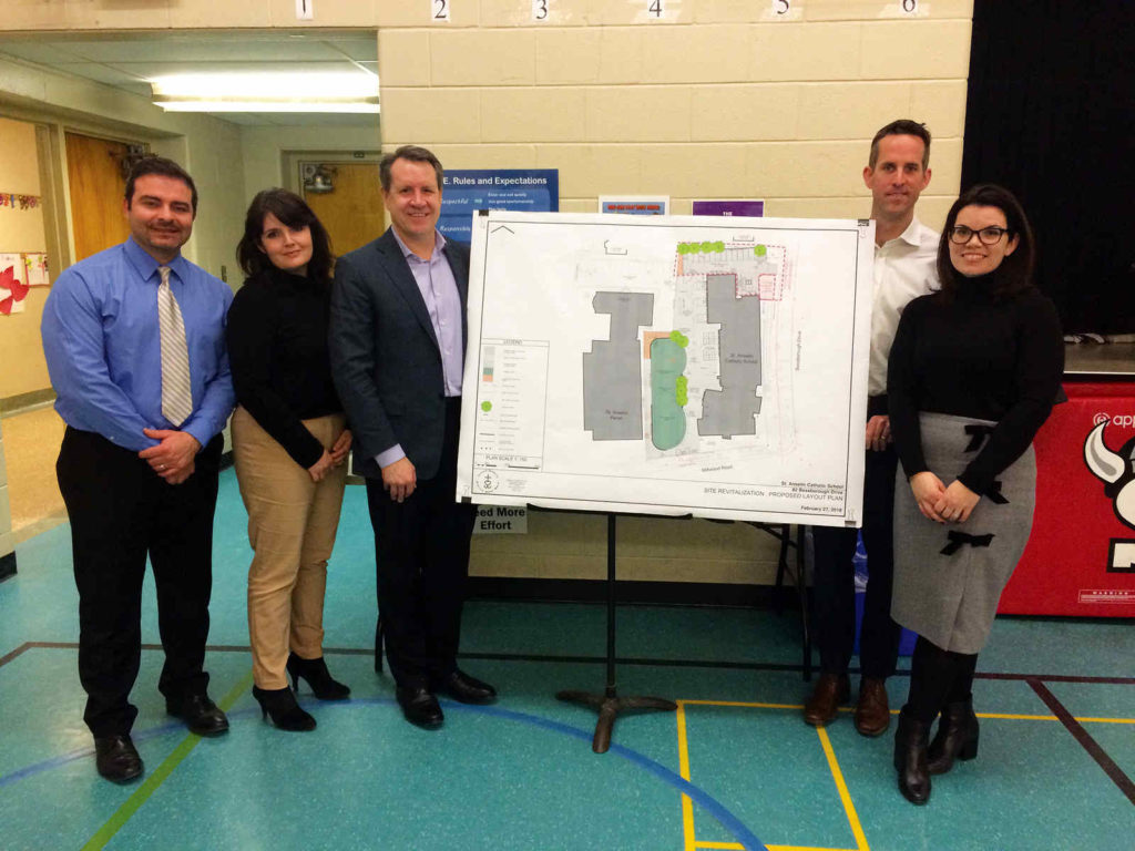 L-R: Principal Donato DiPaolo with committee members Michelle Raino, Tom Teahen, Chris Burkett and Nicole Watts.