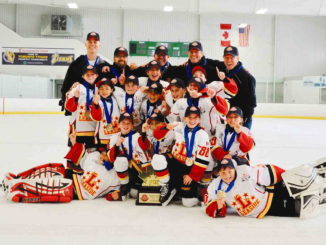 The Leaside Flames Atom AA team, coached by Leasiders Chris Martin, Marcus Rudy, Peter O'Connell, and Ian MacMillan, defeated the York Toros to capture the GTHL City Championship.