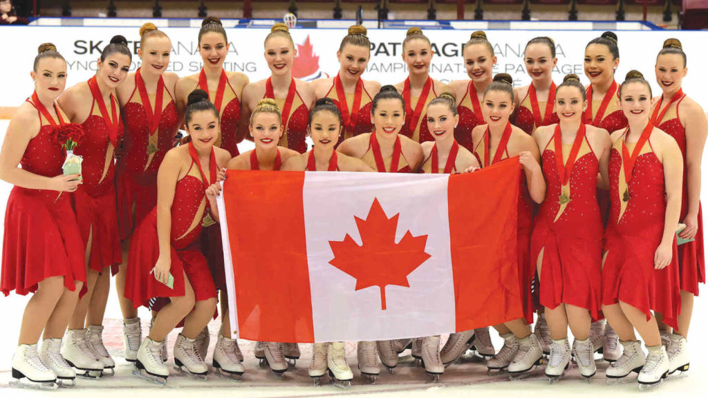 Leaside Meraki Intermediate Synchronized Skating team. Photo: Skate Canada/Stephan Potopnyk