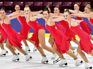 Meraki Synchro skaters. Photo: Danielle Earl