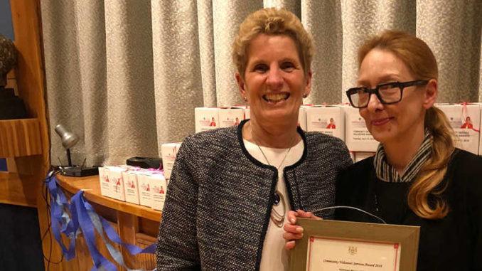Debora Kuchme with Premier Kathleen Wynne.