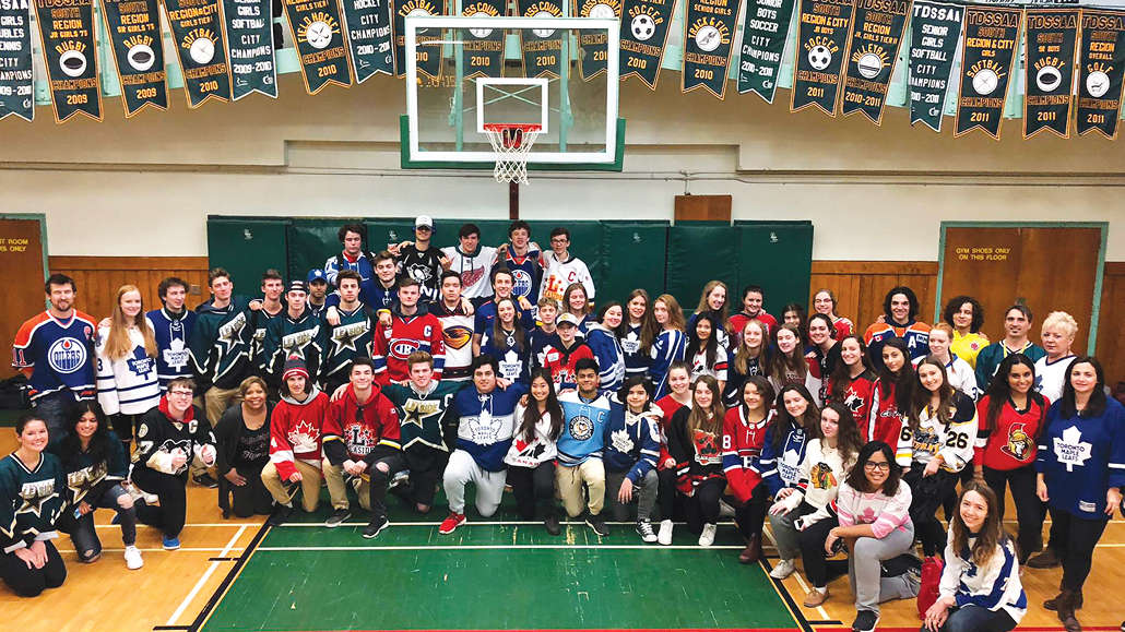 Leaside High and many local schools sported jerseys on April 12th.