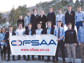 The Leaside Lancers boys' team in Collingwood, April 2018.