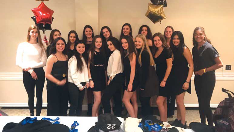 The Lancers girls' team at their banquet night.
