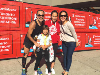 Dr. Rezende-Neto and his family at the Scotiabank Waterfront Marathon.