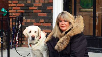 Brenda French and her dog Chance