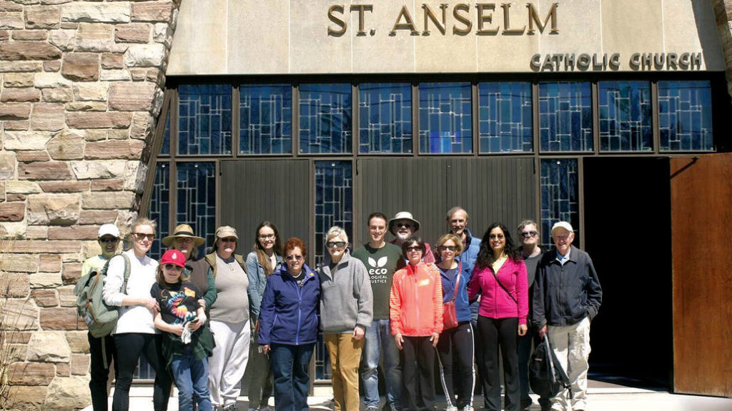 EcoAnselm, a group of St. Anselm's Church parishioners. Photo Martha Asselin.