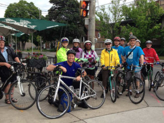 Leasiders on Bike to Work day. Photo: Russell Sutherland.