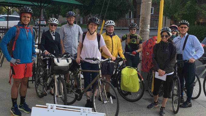Leaside Bike to Work Crew 2018. Photo: Russell Sutherland.