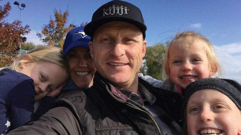 The McKenzie family l-r: Ella, Selene, Matt, Everly and Maija.