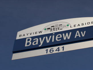 Bayview Avenue street sign.