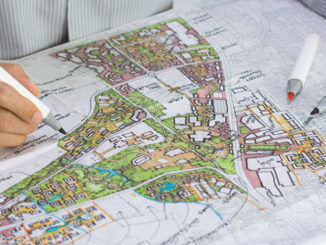 An image of a map being designed.