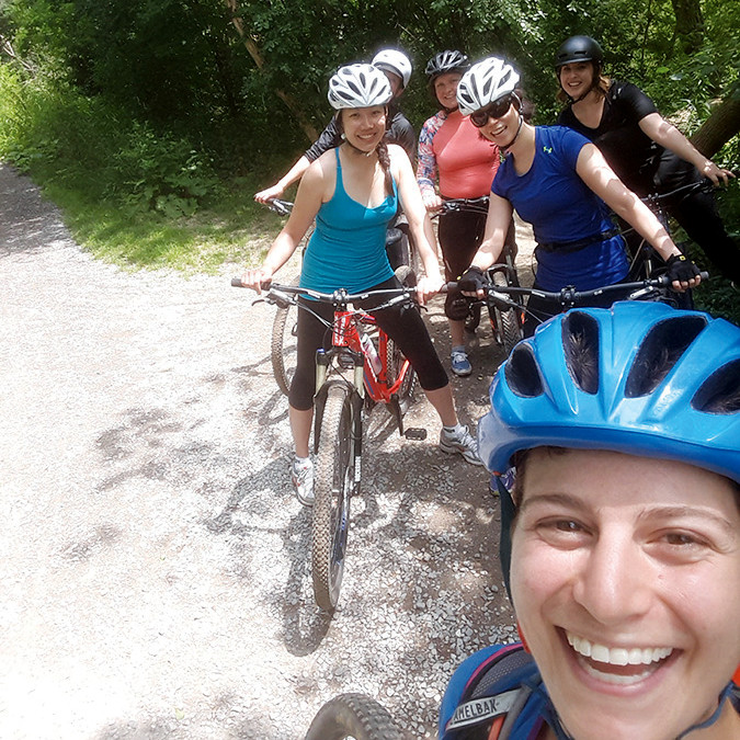 Serious mountain bikers love Crothers Woods for its challenging trails.