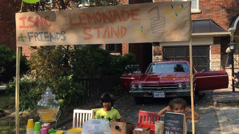 Isaac's 3rd annual lemonade stand.