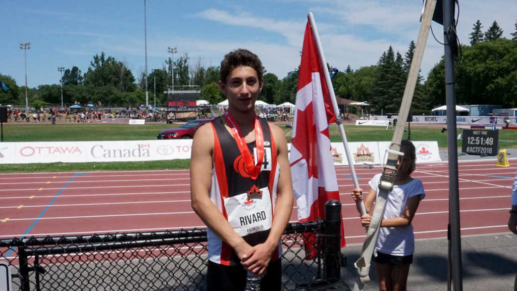 Liam with his bronze medal at the Nationals in Ottawa.