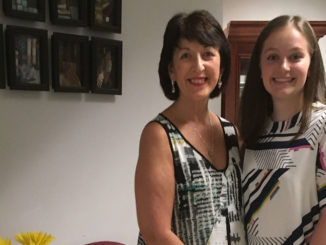 Left: Denise Wilson, Curriculum Leader for Guidance, and (right) Anna Postill at Commencement.