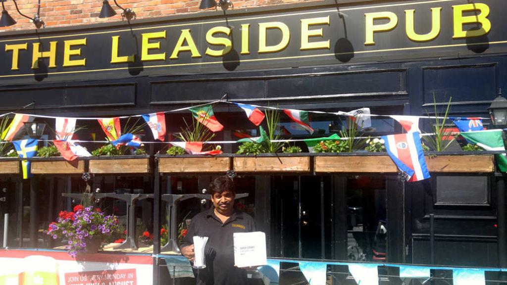 Leaside Pub Manager Param Ratna blazes the eco trail.