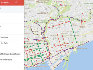 The new online Toronto Cycling map.