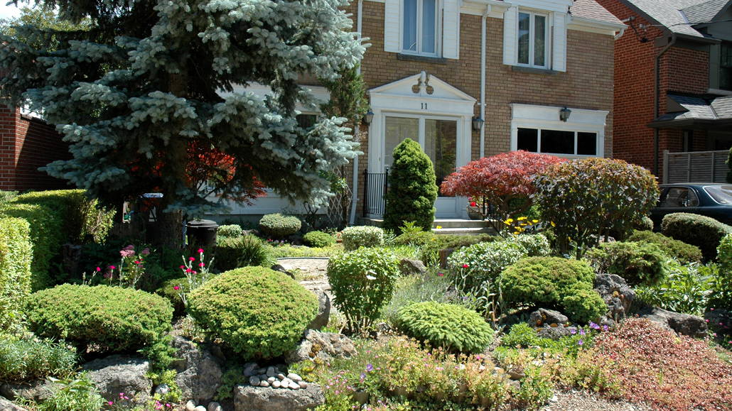 """One of the Eight """"Gardens of Distinction"""" in Leaside."""