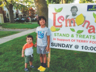 Leasider Isaac and his brother Nyle raised money for the Terry Fox Foundation.