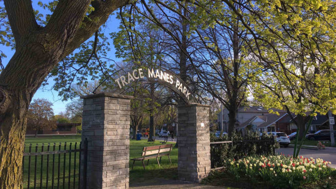 Cheryl Vanderburg is thankful to the stakeholders of Trace Manes Park including Parks, Forestry and Recreation, the Leaside Library, the Leaside Tennis Club, LABA and Pedalheads, for pulling together to keep their areas of the park clean.