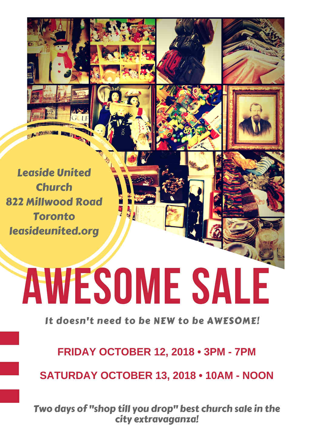 Fall Awesome Sale 2018, Leaside United.