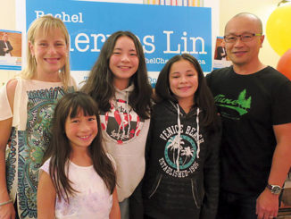 Leasider and new Trustee Chernos Lin with her family. Photo Wendy Weston.