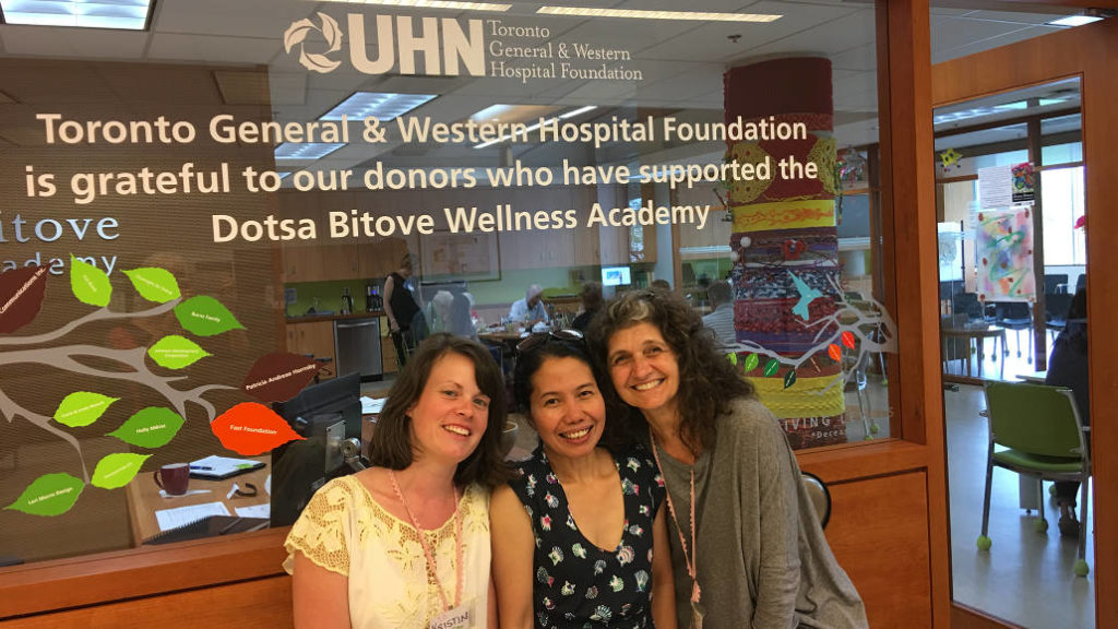 Kristin Bartlett, program assistant, Judith Bansil, member companion, and Susee Padias, program assistant.
