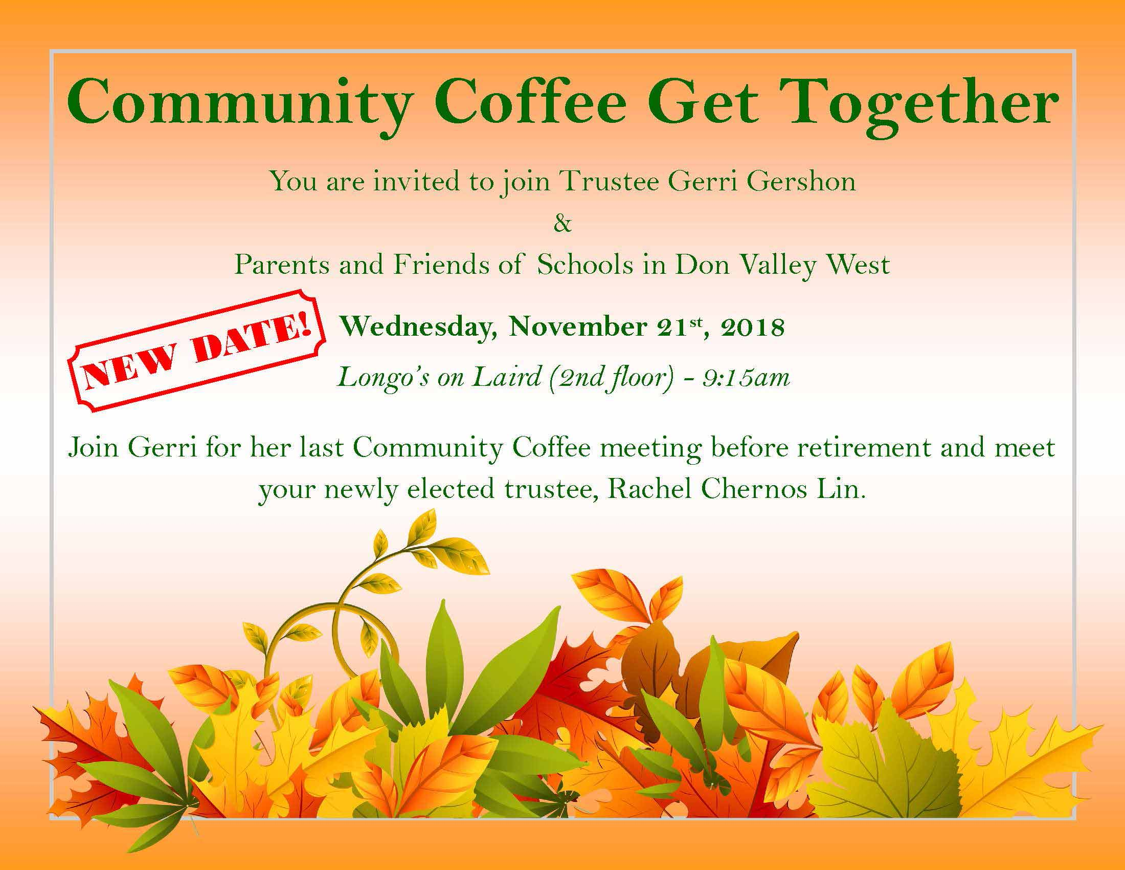 Trustee coffee November 21, 2018