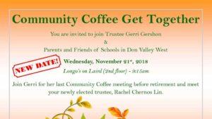 Trustee coffee November 21, 2018.