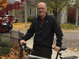 Russell Sutherland rarely drives any more, taking advantage of all the bike lanes and park paths to get around.