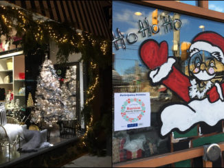 MacFAB and Epi Breads, two participants in the 2017 Holiday Window Decorating Contest.