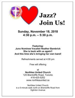 Jazz Service Northlea United November 18, 2018.