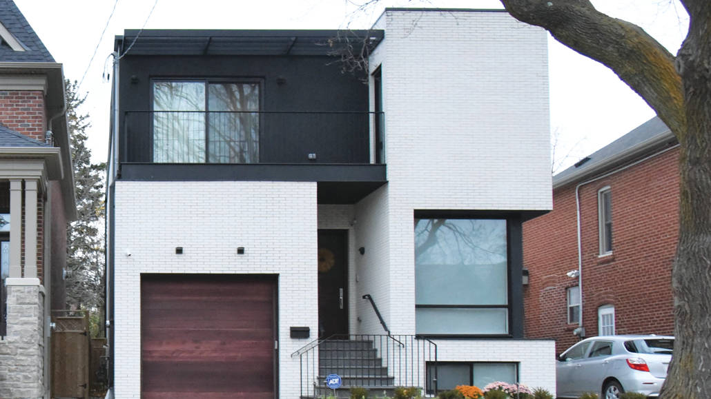 A house built in the Modernist style.