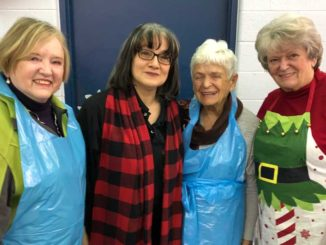 Leaside volunteers Sheila Riggs, Lucy Burke, June and Tanyss Malabar.