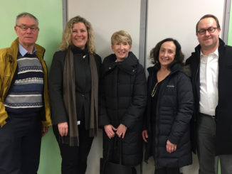 Members meet with Councillor Jaye Robinson. L-r: Geoff Kettel, Councillor Robinson, Holly Reid, Kris Langille and Jason Ash.